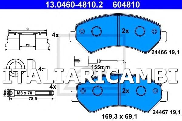 Plaquettes de frein arri/ère Brembo 07BB20.65 Hypermotard S 1100 2007 2009
