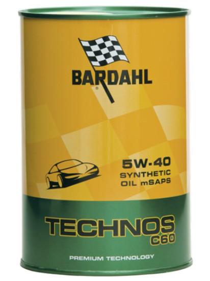 1 LITRO OLIO MOTORE BARDAHL TECHNOS 5W40 C60