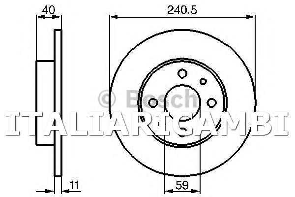 Bosch 0986478342 Coppia dischi freno DISCO FRENO