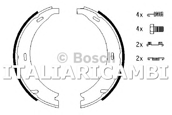 4 Ganasce Freno Di Stazionamento Bosch 0986487543
