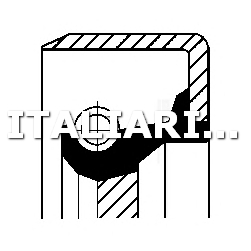 1 PARAOLIO ALBERO MOTORE DX CORTECO FIAT, SEAT