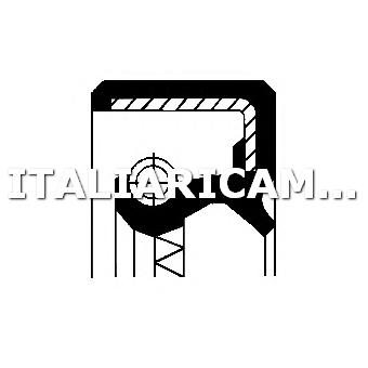 1 PARAOLIO ALBERO A CAMME POSTERIORE CORTECO CITROEN, PEUGEOT
