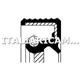 1 PARAOLIO ALBERO MOTORE DX CORTECO ALFA ROMEO, BMW, DAF, LANCIA, MAN, MERCEDES-BENZ, PEUGEOT, RENAULT, RENAULT TRUCKS, TALBOT, VOLVO, VW