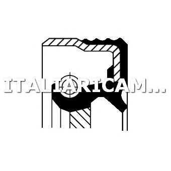 1 PARAOLIO RIPARTITORE DI COPPIA POSTERIORE CORTECO ALFA ROMEO