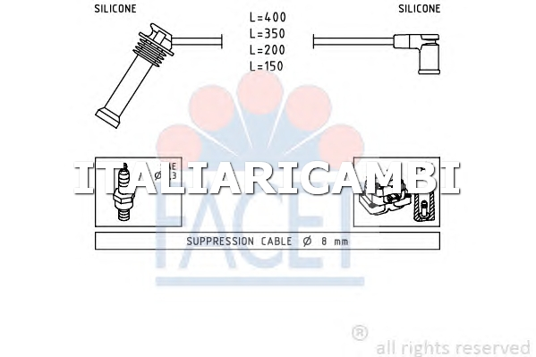 1 KIT CAVI ACCENSIONE  FACET FORD, VOLVO, MAZDA