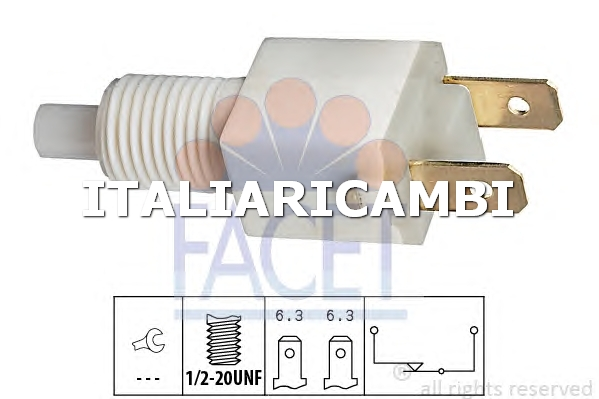 1 INTERRUTTORE LUCE FRENO  FACET TALBOT, ROVER, LAND ROVER