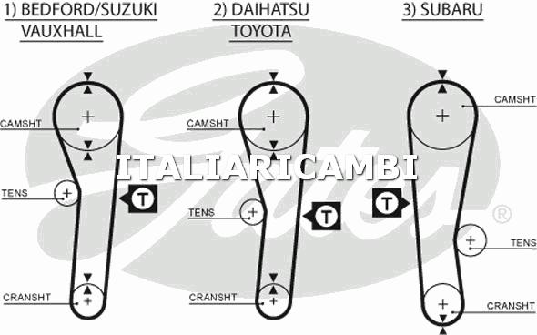1 CINGHIA DISTRIBUZIONE  GATES BEDFORD, TOYOTA, VAUXHALL, SUZUKI, SUBARU, HONDA, DAIHATSU