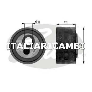 1 RULLO TENDITORE CINGHIA POLY-V  GATES FIAT, CITROËN, PEUGEOT, LANCIA