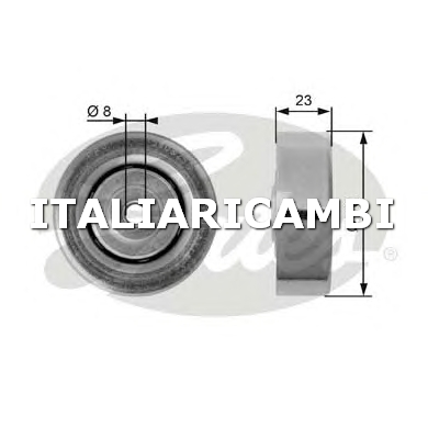 1 RULLO TENDITORE CINGHIA POLY-V  GATES OPEL, BMW