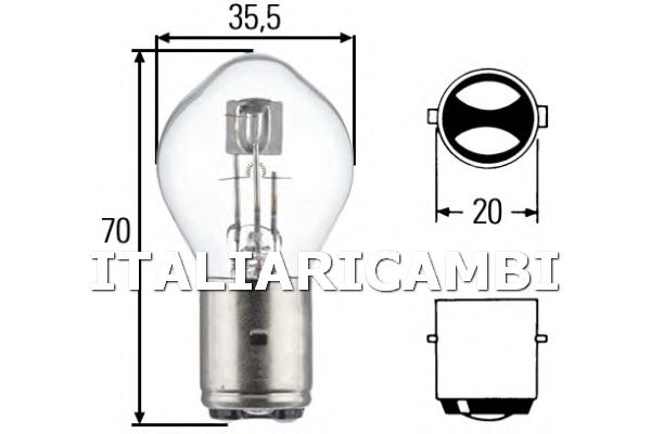 1 LAMPADINA FARO PRINCIPALE  HELLA IVECO, VOLVO, OPEL