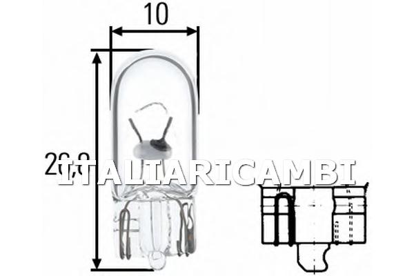 1 LAMPADINA LUCE PERIMETRALE  HELLA IVECO, DAF, SOLARIS, NEOPLAN