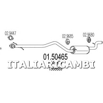 1 SILENZIATORE CENTRALE MTS FORD