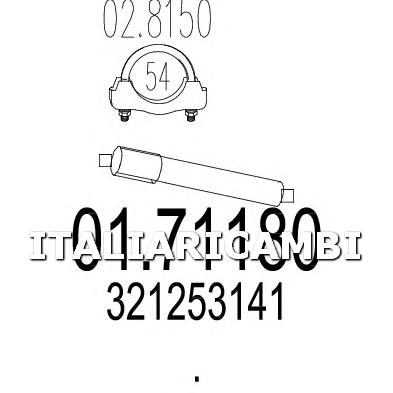 1 COLLETTORE SCARICO POSTERIORE MTS VW
