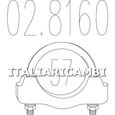 1 FASCETTA MARMITTA MTS ALFA ROMEO, AUDI, BMW, CHRYSLER, CITROEN, FIAT, FORD, LANCIA, LAND ROVER, MASERATI, MAZDA, MERCEDES-BENZ, PEUGEOT, TOYOTA, VOLVO