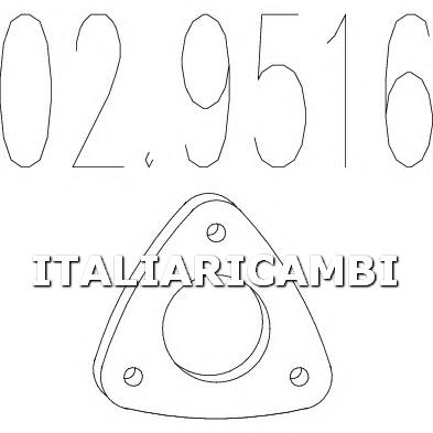 1 GUARNIZIONE SCARICO MTS ALFA ROMEO