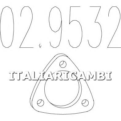1 GUARNIZIONE SCARICO MTS ALFA ROMEO, CHEVROLET, DAEWOO, FIAT, HYUNDAI, LANCIA, OPEL, VOLVO