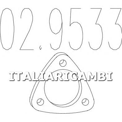 1 GUARNIZIONE SCARICO MTS ALFA ROMEO, AUDI, AUTOBIANCHI, DAEWOO, FIAT, LANCIA, SAAB, VW