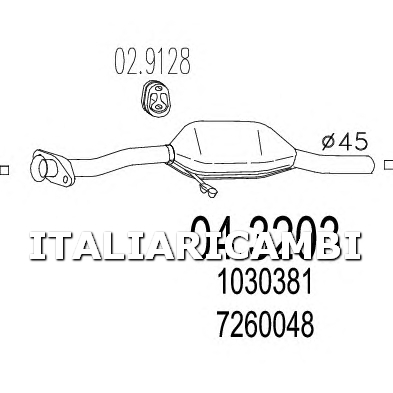 1 CATALIZZATORE MTS FORD
