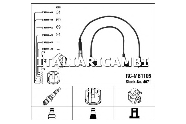 1 KIT CAVI ACCENSIONE NGK MERCEDES-BENZ