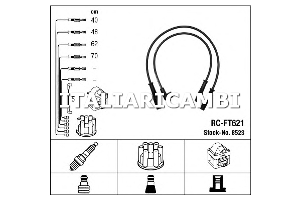 Kit cavi candele accensione BOSCH 0986356853 FIAT LANCIA