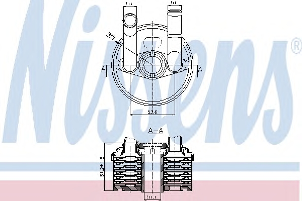 1 RADIATORE OLIO CAMBIO AUTOMATICO  NISSENS VW, SKODA, SEAT