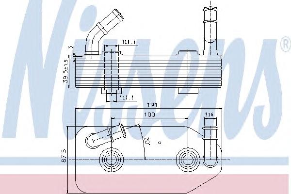 1 RADIATORE OLIO CAMBIO AUTOMATICO  NISSENS VW, SKODA, SEAT, AUDI