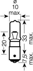 1 LAMPADINA RETRONEBBIA  OSRAM