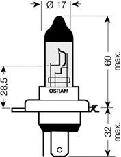 1 LAMPADINA FARO PRINCIPALE  OSRAM