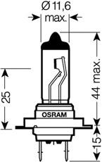 1 LAMPADINA FARO  OSRAM