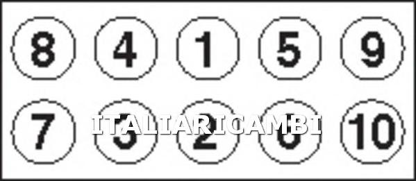 1 KIT BULLONI TESTATA PAYEN ABARTH, ALFA ROMEO, FIAT, LANCIA, OPEL