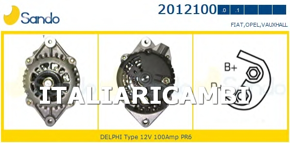 1 ALTERNATORE  SANDO VAUXHALL, OPEL