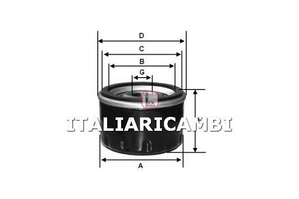 1 FILTRO OLIO SOFIMA AUTOBIANCHI, CITROEN, FIAT, INNOCENTI, LANCIA, PEUGEOT