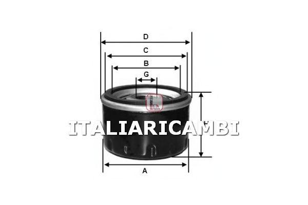 1 FILTRO OLIO SOFIMA ALFA ROMEO, AUTOBIANCHI, FIAT, INNOCENTI, LANCIA, ZASTAVA