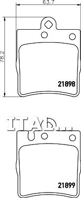 PASTIGLIE POSTERIORE FRENI BREMBO P50033 MERCEDES-BENZ CLASSE E E 430 205 1999