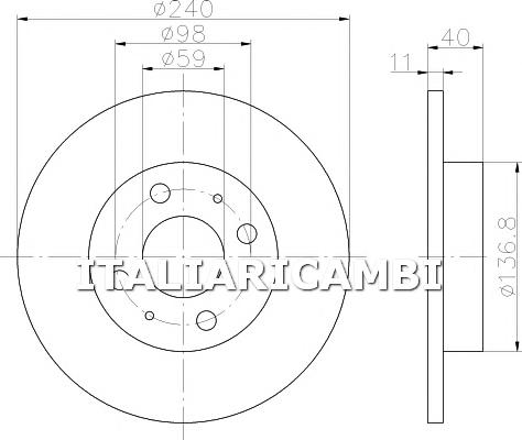 2 DISCHI FRENO  ANTERIORI  TEXTAR FORD, FIAT, ALFA ROMEO