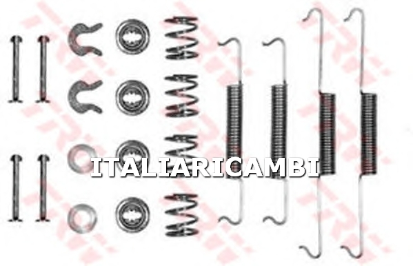 1 KIT ACCESSORI GANASCE FRENO  POSTERIORE TRW VW