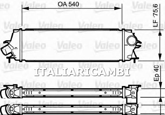 1 INTERCOOLER  VALEO VAUXHALL, RENAULT, OPEL