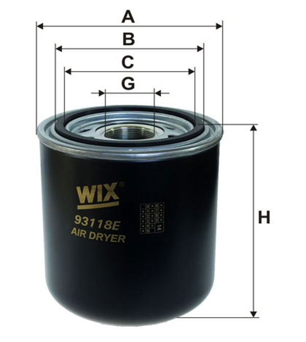 1 ESSICCATORE ARIA IMP ARIA COMPRESSA  WIX FILTERS IVECO, FORD, DAF, VW, SCANIA, MERCEDES-BENZ, NEOPLAN, MAN, STEYR